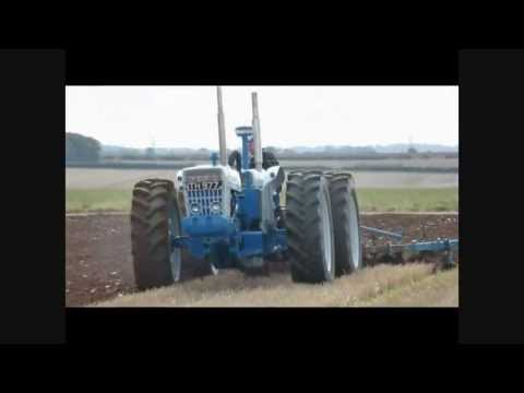 doe tractor ford conversion over 200 hp with huge plough!
