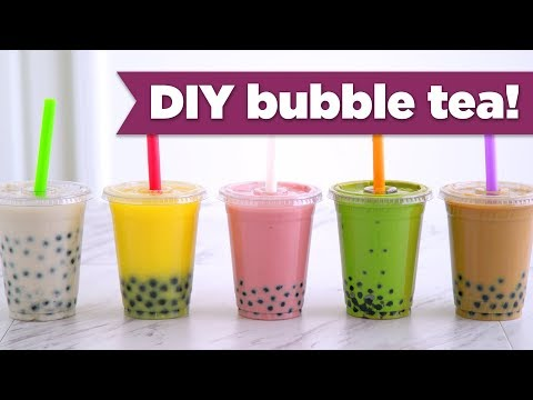 DIY Boba / Bubble Tea! Healthy Recipes - Mind Over Munch
