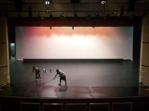 Time Lapse: Painting the Theatre Stage