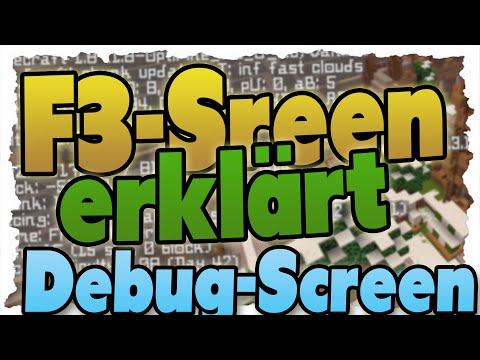 MINECRAFT F3-Screen (DEBUG-Screen) erklärt - 1.8 Tutorial - ALLE Funktionen