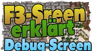 MINECRAFT F3-Screen (DEBUG-Screen) erklärt - 1.8 Tutorial - ALLE Funktionen