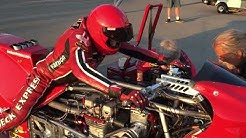 "67 Year Old Top Fuel Motorcycle Racer Chris Hand and the ""Redneck Express"""