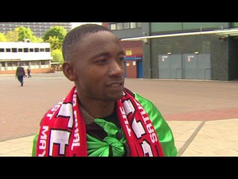 Mnachester United fan comes from Sierra Leone to see team