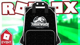 [EVENT] How to get the JURASSIC WORLD BACKPACK | Roblox Creator Challenge