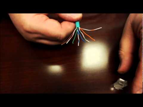 How to make an Ethernet CAT5e or CAT6 patch cable using RJ45