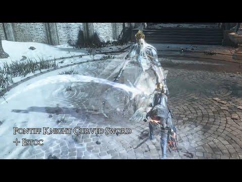 Dark Souls  Pontiff Knight Curved Sword Build