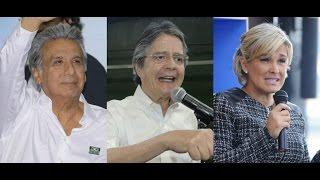Candidatos Moreno y Lasso lideran 2 de 3 encuestas presidenciales; Viteri se acerca