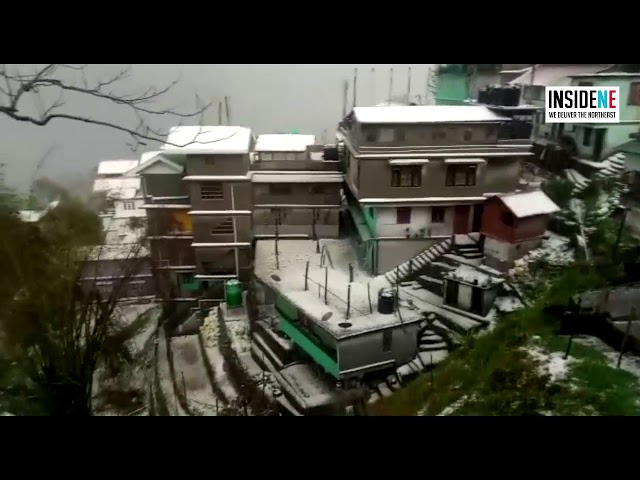 Heavy Hailstorm in Gangtok Brings Lockdown Life to a Standstill