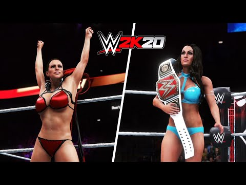 WWE 2K20 Stephanie McMahon vs Nikki Bella Bikini Match - Gameplay PS4