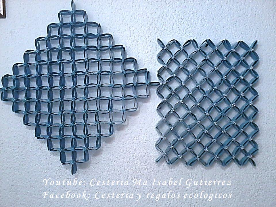 Cuadro decorativo con tubos de papel higi nico diy youtube - Papel para paredes decorativo ...