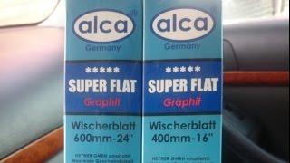 Бескаркасные щетки Alca Super Flat Graphit