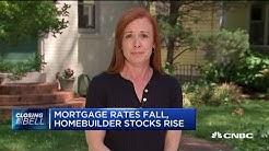Mortgage rates fall, homebuilder stocks rise amid US-China trade tensions