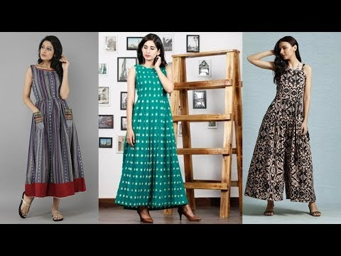 Sleeveless Cotton Kurti Designs 2019 | Indian Fashion 2019