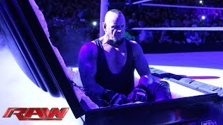 Undertaker rises from a coffin to attack Brock Lesnar: Raw, March 24, 2014
