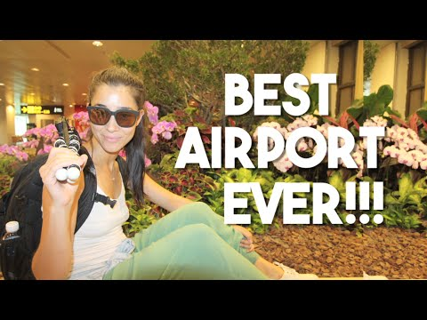 The Nicest Airport in the World! (Changi Airport - Singapore Travels)