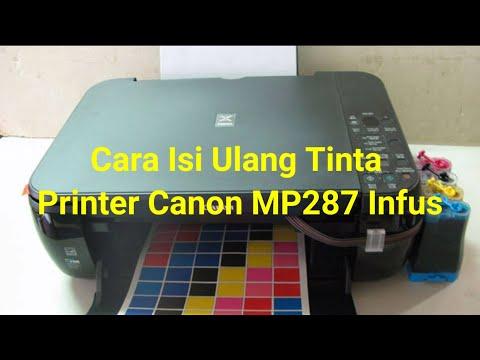 Cara Isi Ulang Tinta Printer Canon MP287 Infus.