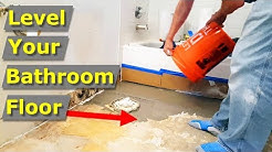 How to Self Level Your Bathroom Floor for Tile Flooring