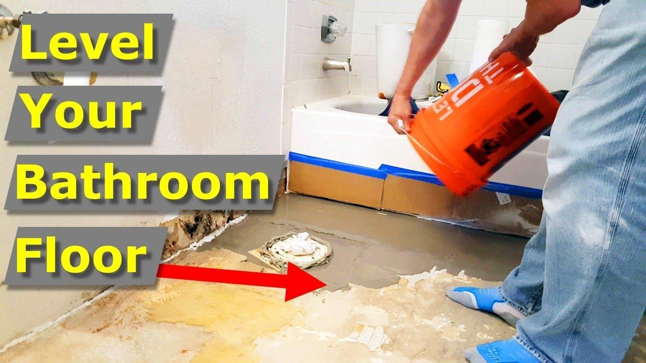 how to self level a bathroom floor