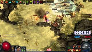 Path of Exile Act 4: Gorge Speed Run 2H Cyclone (Suckclone)