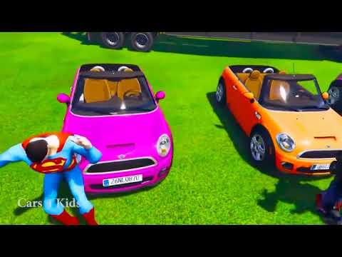 Animasi Kartun Mobil Anak Belajar warna Mobil balap klasik lucu