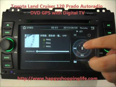 Toyota Land Cruiser 120 In Dash GPS Navigation DVD - Happyshoppinglife