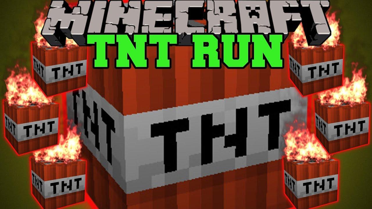 Minecraft TNT RUN PARKOUR AND RUN FOR YOUR LIFE OR DIE MiniGame - Minecraft tnt spiele