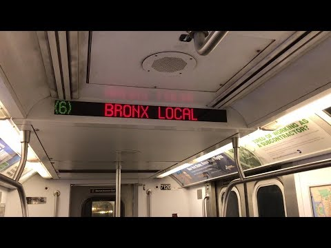 NYC Subway HD 60fps: Riding R142 6 Train (Grand Central to Brooklyn Bridge via City Hall Loop)