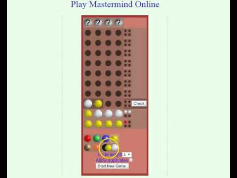 How To Play Mastermind (Code Breaker)