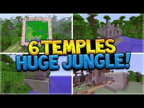 6 Jungle Temples, 2 Villages, HUGE Jungle Biome (Minecraft