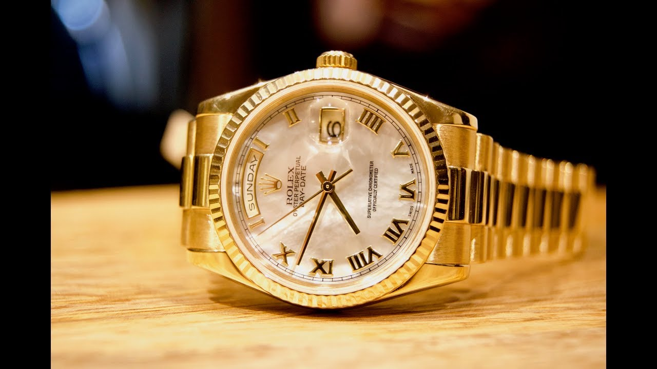 "Review: Rolex Day-Date 36 ""President"" Mother-of-Pearl 118238 - YouTube"