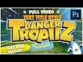 Text Style Design Photoshop + Cartoon Game Title Photoshop Tutorial #2