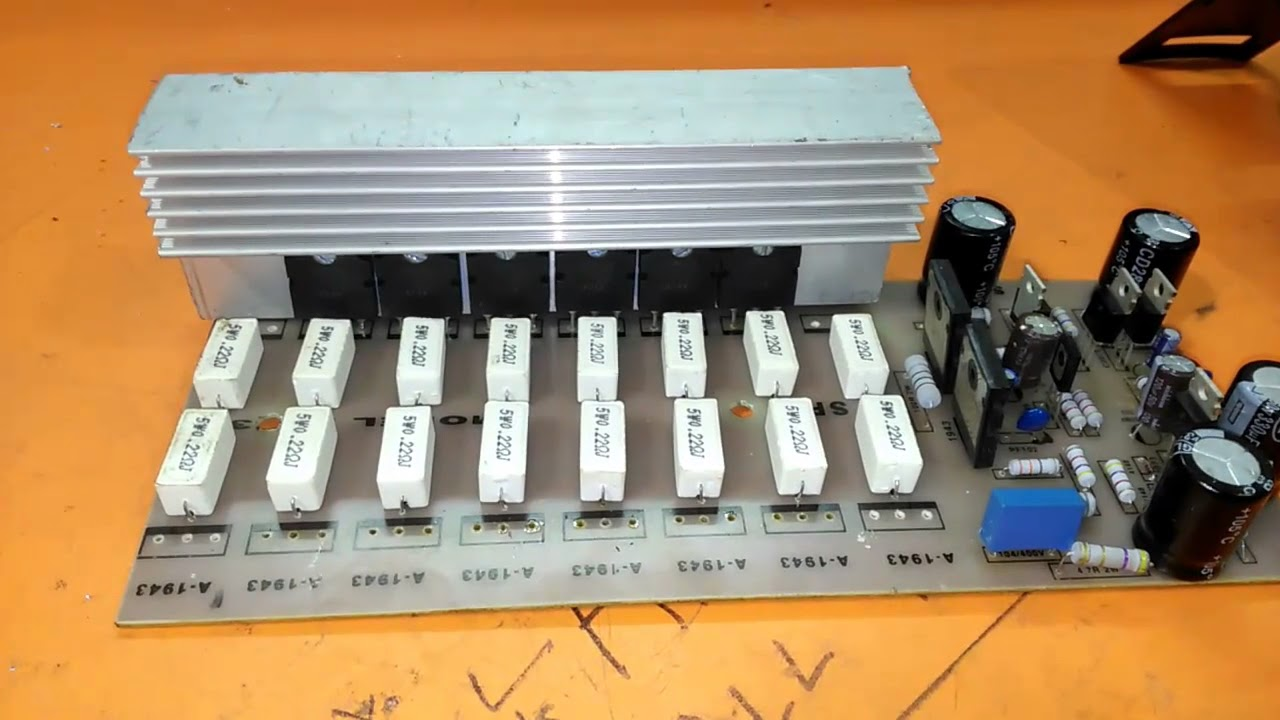 How To Repair An Amplifier 2000 Watts Using 2sc5200 And