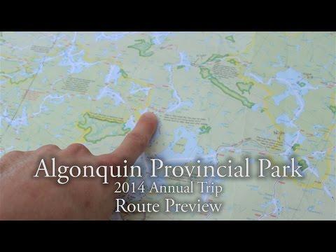 Algonquin Provincial Park 2014 - Route Preview