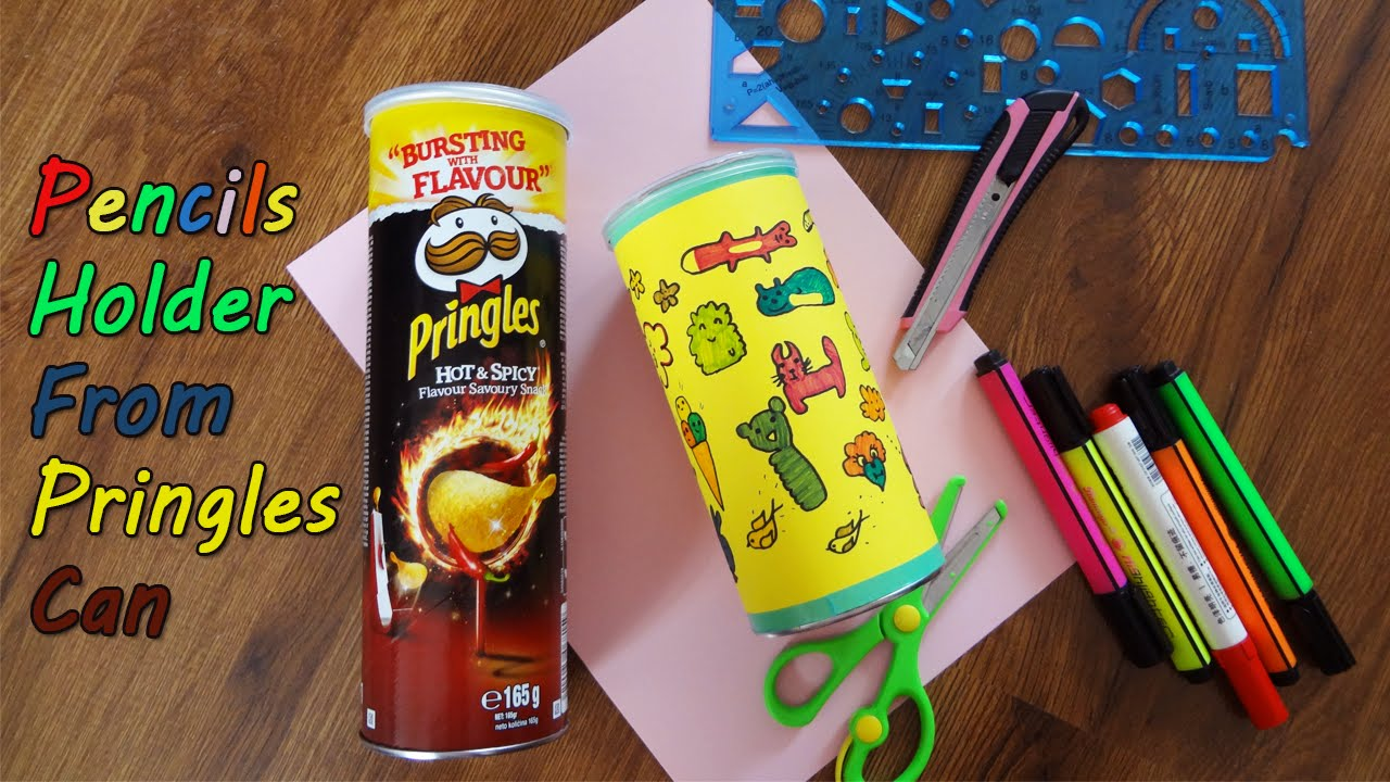 Diy Back To School Pencils Holder From Pringles Can