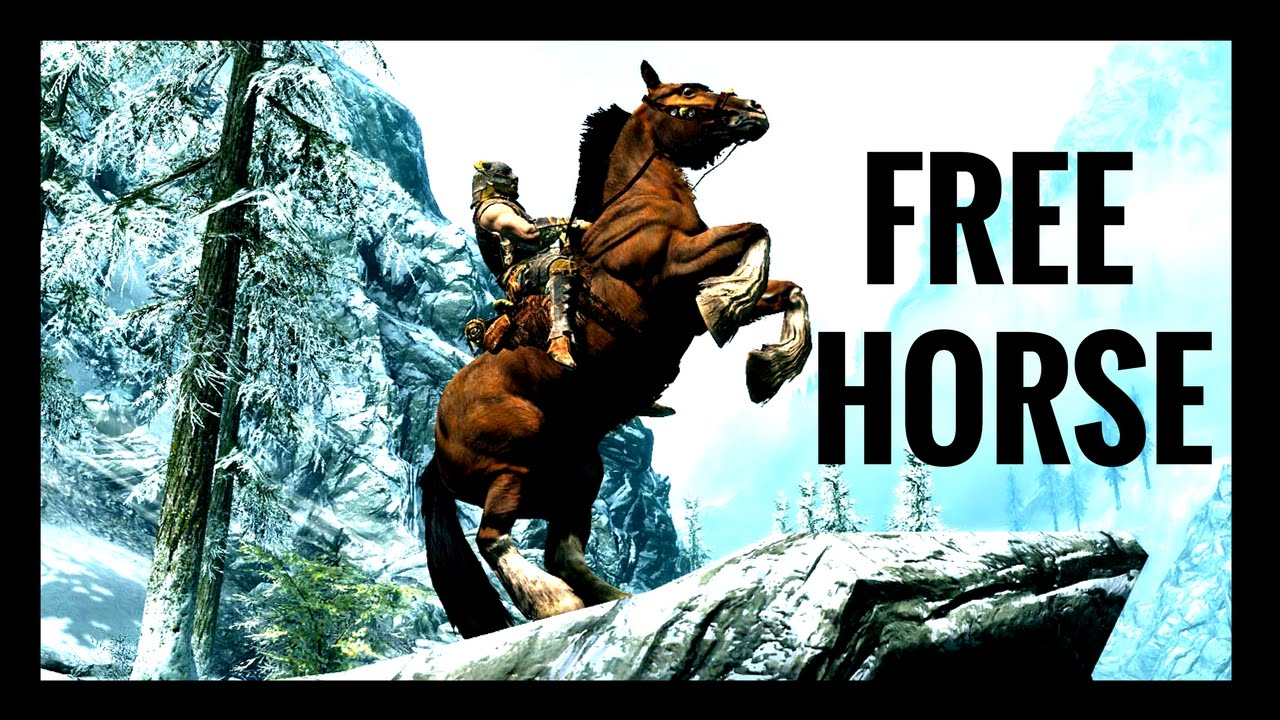 How To Get A Free Horse At Any Level Skyrim Remastered Youtube