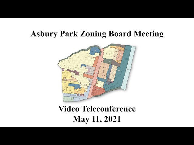 Asbury Park Zoning Board Meeting - May 11, 2021