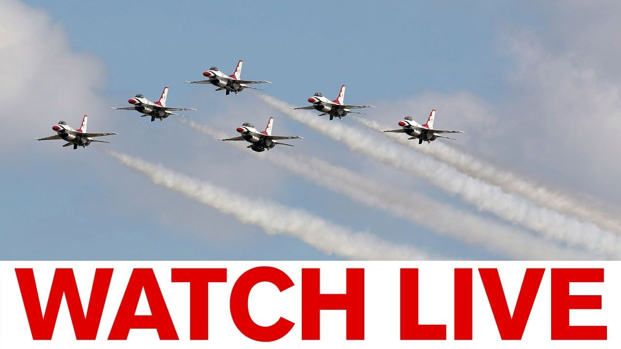 Blue Angels and Thunderbirds fly over the skies in salute to frontline ...