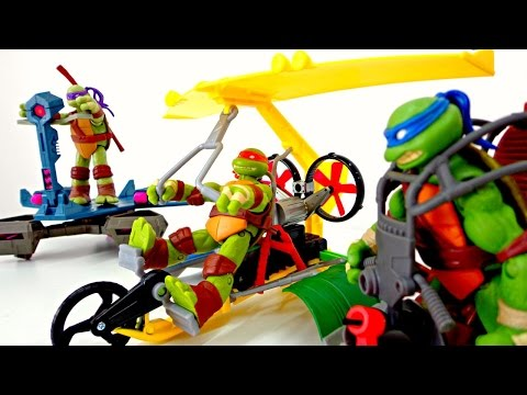 Teenage Mutant Ninja Turtles. Toys For Boys & Kids Video. Ninja Turtles Toys. Черепашки ниндзя видео