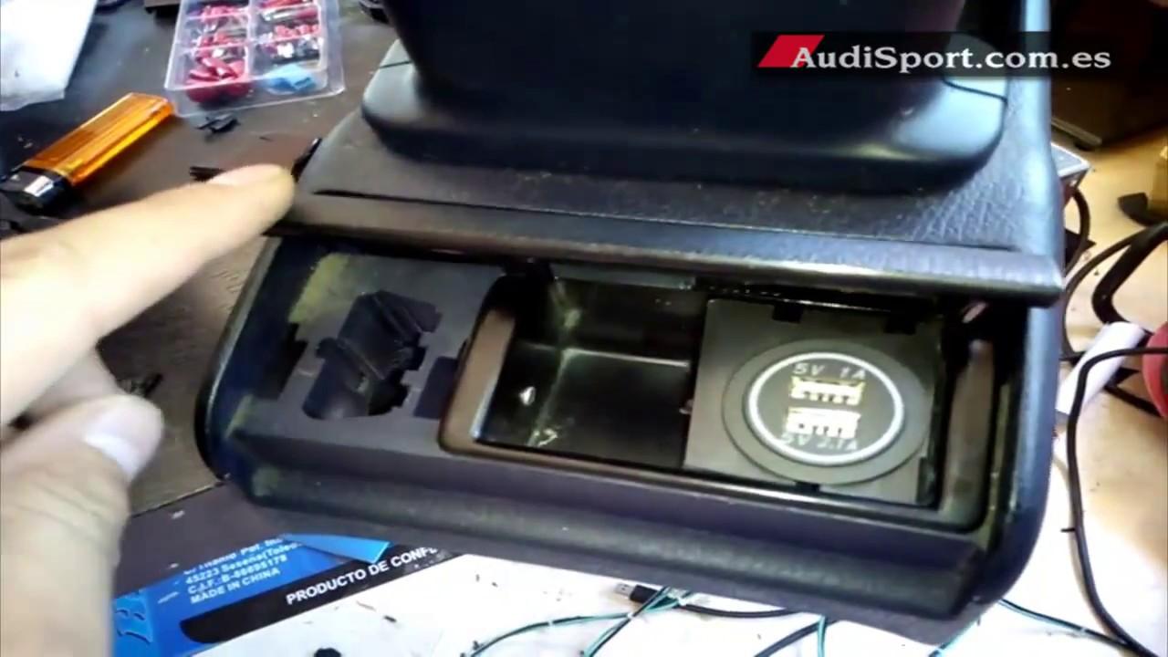 Instalar cargador de m vil usb para pasajeros youtube - Instalar puerto usb en coche ...
