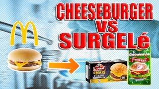COMPARAISON CHEESEBURGER McDo VS SURGELé CHARAL VS HALAL