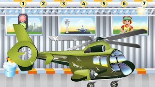 Plane Wash Military Helicopter