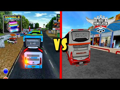 Top 2 Android Games Bus Simulator Indonesia BUSSID Vs Mobile Bus Simulator | Best Of The Best 2019