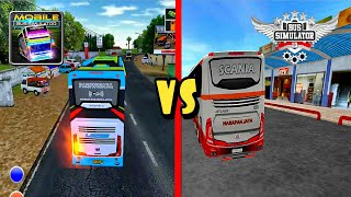 Top 2 Android Games Bus Simulator Indonesia BUSSID vs Mobile Bus Simulator | Best Of the Best