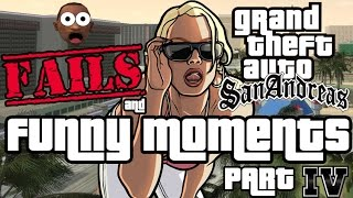 GTA San Andreas Speedrunning FAILS and FUNNY MOMENTS Part IV!