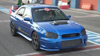 800HP Subaru Impreza Gets Sequential Gearbox!! - First Track Test BRUTAL Shifting, Sounds & OnBoard!