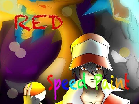 Red Pokemon trainer - Speed paint
