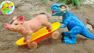 Dinosaurs, pigs, dogs learn to share - children toys H1145G ToyTV