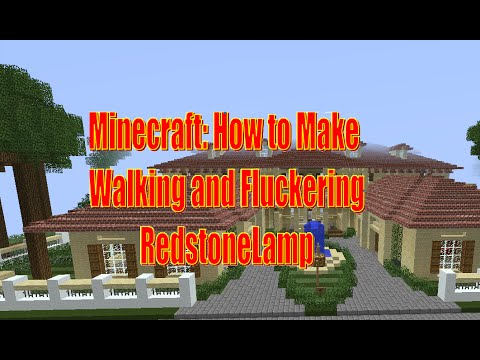 how to make a redstone lamp work
