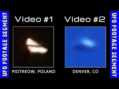 UFO SIGHTINGS • 2 Videos • Piotrkow Poland • Denver CO