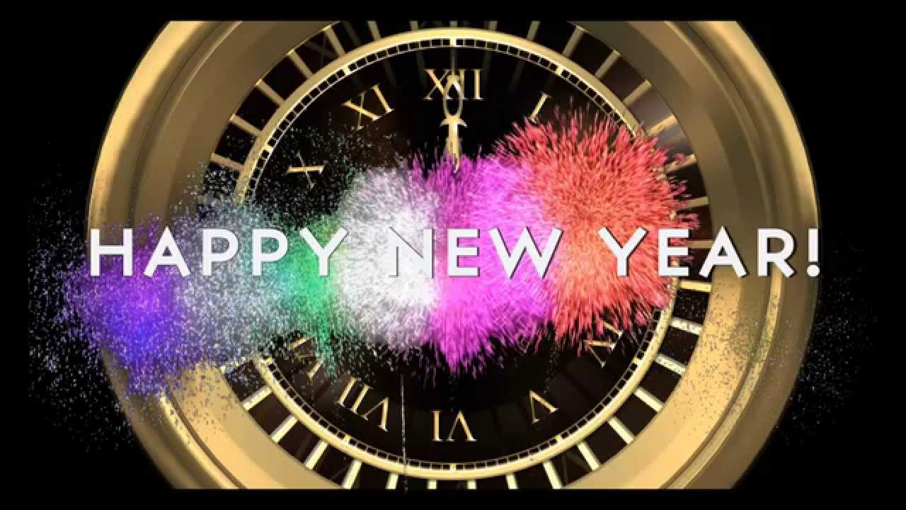 Marvelous HAPPY NEW YEAR COUNTDOWN CLOCK ( V 204 ) Timer With Sound Effects +  Fireworks 2019 4k   YouTube